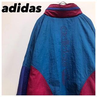 アディダス(adidas)のadidasアディダス•ナイロンジャケット•マルチカラー•デカロゴ•厚手(ナイロンジャケット)