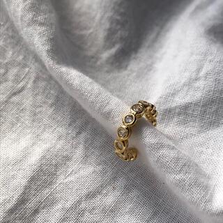 """DEUXIEME CLASSE - N-106 gold ear cuff """"連なる"""""""