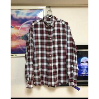 メゾンキツネ(MAISON KITSUNE')の希少美品☆メゾンキツネ シルク混 チェックシャツ41 Maison kitune(シャツ)