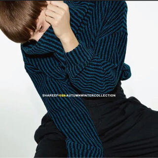 shareef MOLE STRIPE PULL OVER RE-NECK