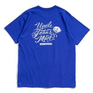 ネイバーフッド(NEIGHBORHOOD)のMC NEIGHBORHOOD UNCLE TOONS MART Tシャツ 青(Tシャツ/カットソー(半袖/袖なし))
