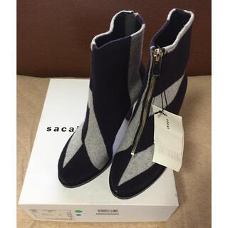 サカイ(sacai)の新品 sacai レディース ショートブーツ サカイ シューズ ブーティー 38(ブーツ)