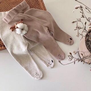 【新品未使用】韓国子供服 チャーリーブラウン スヌーピー タイツ(靴下/タイツ)