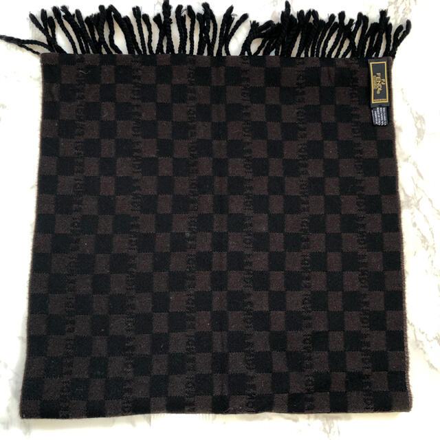 FENDI(フェンディ)のFENDI フンディ ストール マフラー チェック柄 ウール メンズのファッション小物(マフラー)の商品写真