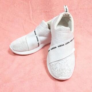アディダス(adidas)のアディダス❤スリッポン 白 中古 仕事用に 24cm(スリッポン/モカシン)
