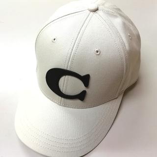 コーチ(COACH)の【COACH★F75703】コーチ キャップ 帽子 チョーク 新品(キャップ)