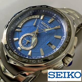 セイコー(SEIKO)の新年価格!【美品】セイコー 電波ソーラー SEIKO★メンズ腕時計 ブルー(腕時計(デジタル))