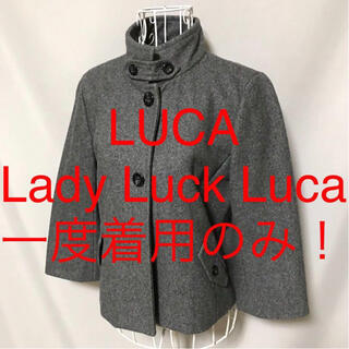 ルカ(LUCA)の★LUCA/Lady Luck Luca/ルカ★七分袖ショートコートF(フリー)(ピーコート)