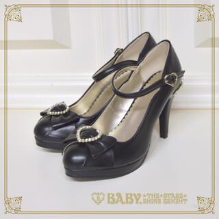 ベイビーザスターズシャインブライト(BABY,THE STARS SHINE BRIGHT)のBaby the stars Heart Princessパンプス 黒 Lサイズ(ハイヒール/パンプス)