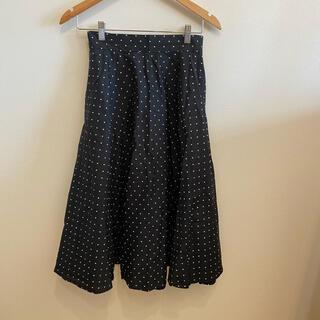 ユニクロ(UNIQLO)のUNIQLO ドットスカート(ひざ丈スカート)