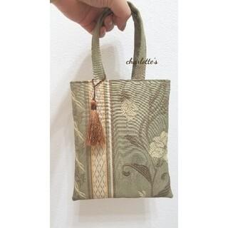 大人のミニバッグ フォーマルバッグ -モスグリーン シックで華やかバッグ- (ハンドバッグ)