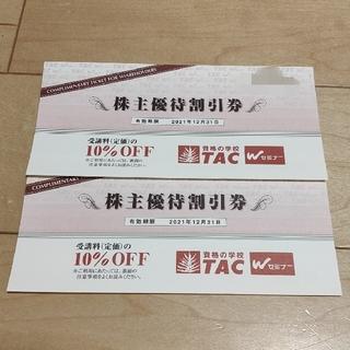 タックシュッパン(TAC出版)のTAC 株主優待割引券 2枚(その他)