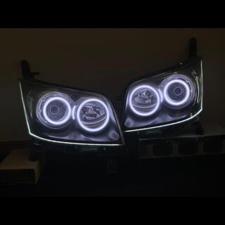 ダイハツ - ムーヴカスタムL175S 加工ヘッドライト イカリング シーケンシャル
