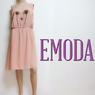 エモダ(EMODA)のゆるかわ♪エモダ シフォンフラワー ミディアムワンピース♡ジルスチュアート ザラ(ひざ丈ワンピース)