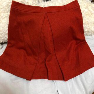 プラステ(PLST)のPLST プラステオレンジスカート 膝丈スカート(ひざ丈スカート)