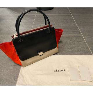 セフィーヌ(CEFINE)のCELINE セリーヌ トラペーズ 旧モデル グレージュ フラミンゴ 黒(ハンドバッグ)