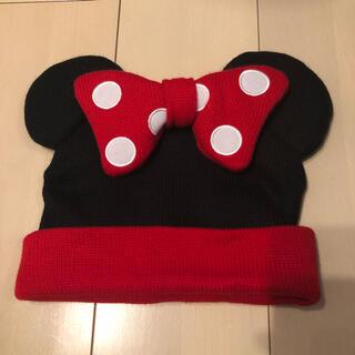 ディズニー(Disney)の【美品】ディズニーリゾート ミニーマウス ニットキャップ(ニット帽/ビーニー)