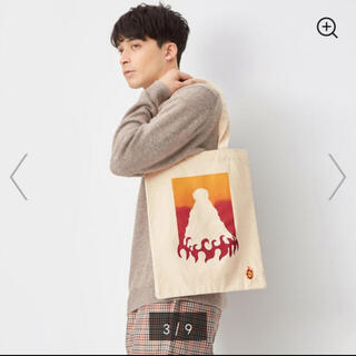 ジーユー(GU)の【新品】GU×鬼滅の刃 煉獄杏寿郎 キャンバストートバッグ(トートバッグ)