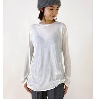 アパルトモンドゥーズィエムクラス(L'Appartement DEUXIEME CLASSE)のAP STUDIO追加 Distortion Tシャツ★ホワイト(Tシャツ(長袖/七分))