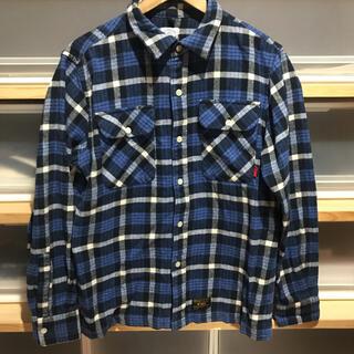 W)taps - 15aw wtaps VATOS ブルーチェックシャツ Mサイズ