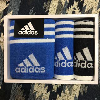 アディダス(adidas)の【新品】アディダス ギフトタオルセット(タオル/バス用品)