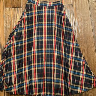 フリークスストア(FREAK'S STORE)の美品★チェックプリーツスカート(ロングスカート)
