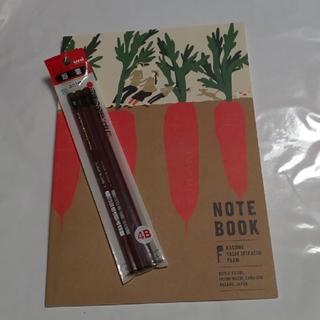 ユニ4B3本パックとノートセット(鉛筆)