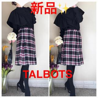 タルボット(TALBOTS)の新品!TALBOTS タルボット ウール タータンチェック スカート 4 ML(ひざ丈スカート)