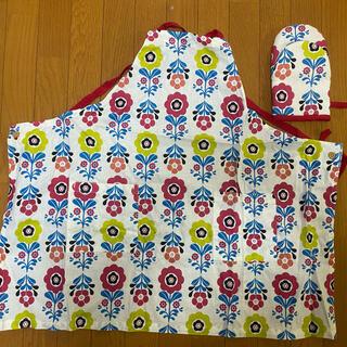 クッカ(kukkA)のkukka(クッカ)エプロン&ミトン set(収納/キッチン雑貨)