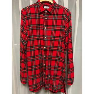 ウィゴー(WEGO)のWE GO ウィゴー チェックシャツ ネルシャツ(Tシャツ/カットソー(七分/長袖))