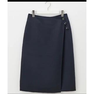 プラステ(PLST)のプラステ リバーシブルスカート ネイビーS(ひざ丈スカート)