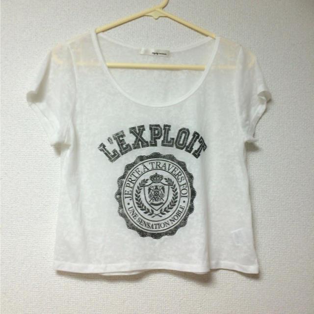mysty woman(ミスティウーマン)のシースルーTシャツ レディースのトップス(Tシャツ(半袖/袖なし))の商品写真