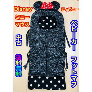 ディズニー(Disney)の【中古】〈Disney〉ベビーカー用フットマフ(ミニーマウス)(ベビーカー用アクセサリー)