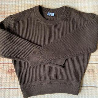 ユニクロ(UNIQLO)のユニクロ ユー メリノブレンドクルーネックセーター ブラウン M(ニット/セーター)