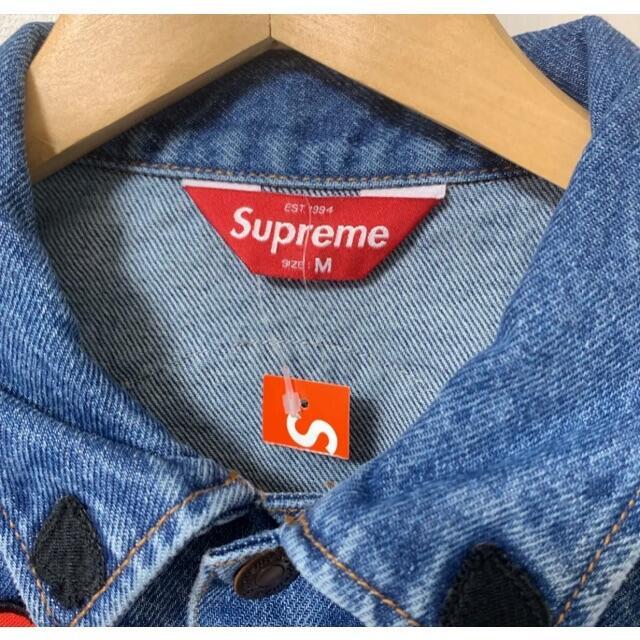 Supreme(シュプリーム)の希少 M シュプリーム パッチ デニム トラッカー ジャケット メンズのジャケット/アウター(Gジャン/デニムジャケット)の商品写真