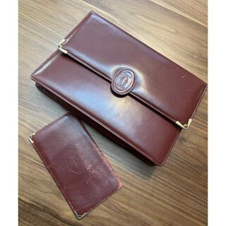 カルティエ(Cartier)のcartier カルティエ セカンドバッグ クラッチ 長財布 レザー(クラッチバッグ)