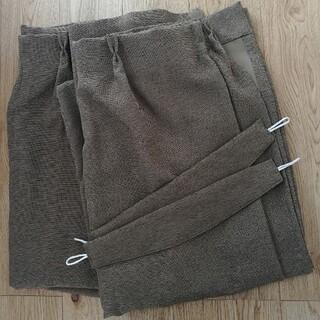 カーテン ブラウン 2枚組 100×210 (カーテン)