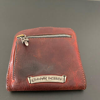 クロムハーツ(Chrome Hearts)のクロムハーツ財布スクウェアータイプ希少カラーレッド(折り財布)