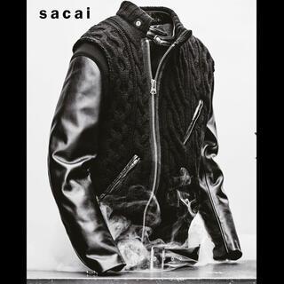 アンダーカバー(UNDERCOVER)のUNDERCOVER 30th Leather sleeve down jack(レザージャケット)