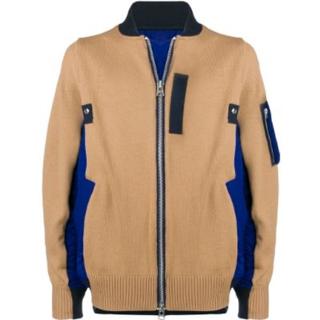 sacai - Sacai -19SS panelled bomber jacket
