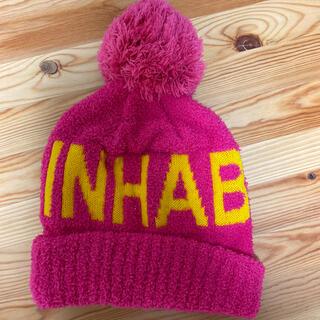 インハビタント ニット帽 ピンク