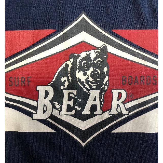 Bear USA(ベアー)のベアー・サーフボード ジャストロゴ・ヘリテイジ ロングTシャツ M【ネイビー】 メンズのトップス(Tシャツ/カットソー(七分/長袖))の商品写真