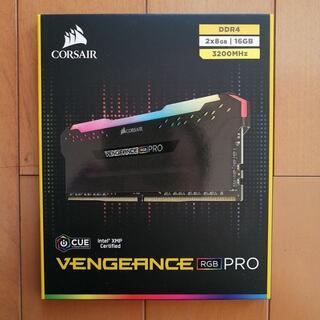 値下げ【未開封】CORSAIR VENGEANCE RGB 16GB(PCパーツ)