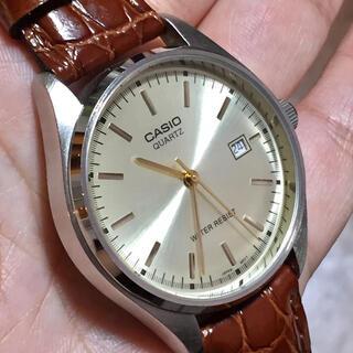 カシオ(CASIO)の【大幅値下げ】超美品CASIOカシオメンズ腕時計ウォッチSSステンレスクォーツ(腕時計(アナログ))