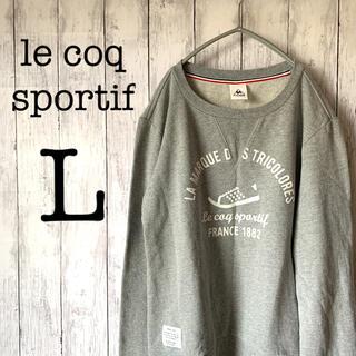 ルコックスポルティフ(le coq sportif)の【定番】古着 90's ルコック トップス スウェット ビックプリント 刺繍ロゴ(スウェット)