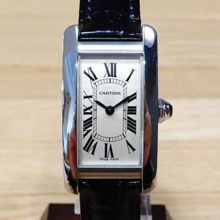 Cartier - 超美品 カルティエ 現行 タンクアメリカン SM クォーツ レディース 腕時計