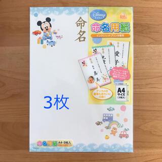 ディズニー(Disney)のmiri♡様専用◆ディズニー 命名用紙 A4(命名紙)