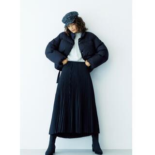 ミラオーウェン(Mila Owen)の定価18700円 新品 ミラオーウェン 裾リボン ダウン (ダウンジャケット)