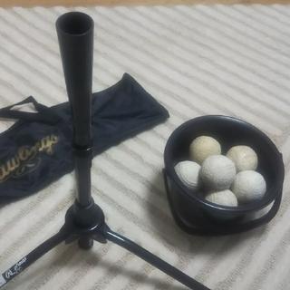 ローリングス(Rawlings)のバッティングティー(ローリング製)&練習球のセット(ボール)