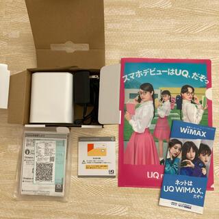 エーユー(au)のWiMAX HOME 02 Wifi ホームワイファイ ルーター(PC周辺機器)